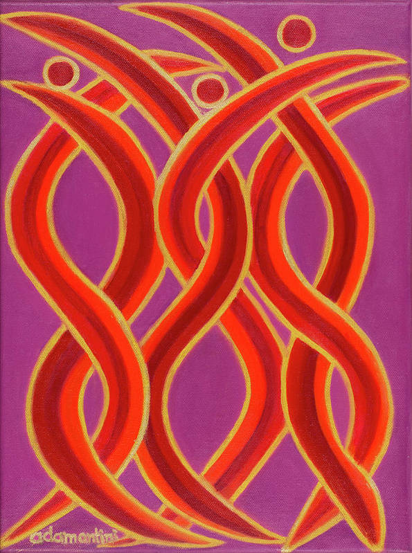 Celestial Fire Art Print featuring the painting Celestial Fire by Adamantini Feng shui