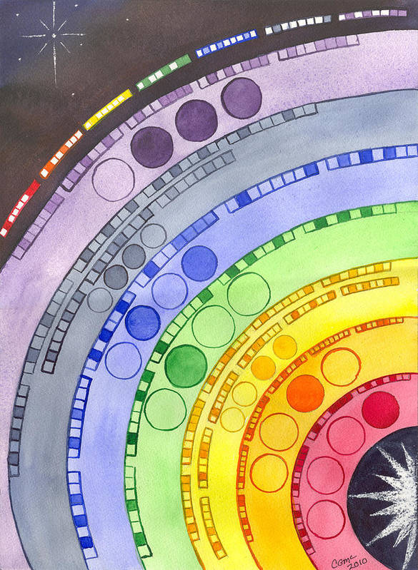 Chakra Art Print featuring the painting Chakras by Catherine G McElroy