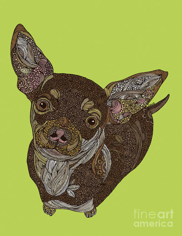 Chihuahua Art Print featuring the digital art Chihuahua by MGL Meiklejohn Graphics Licensing