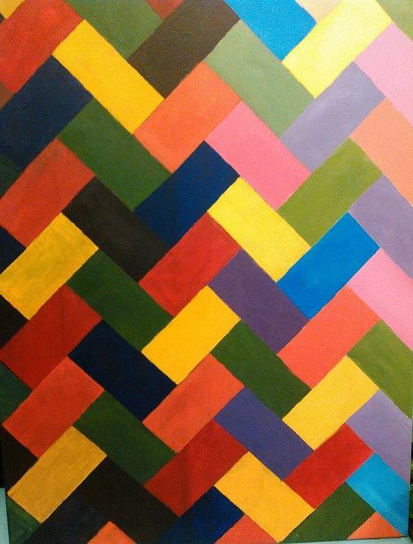 Abstract Art Print featuring the painting ColorPS by Andrew Johnson