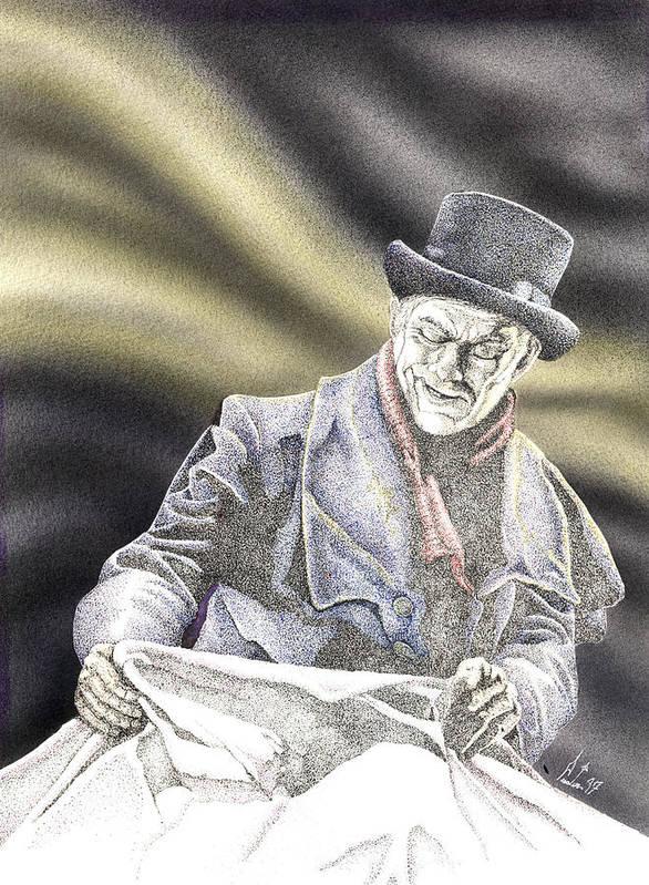 Boris Art Print featuring the mixed media Creepy Thoughts by Preston Shupp