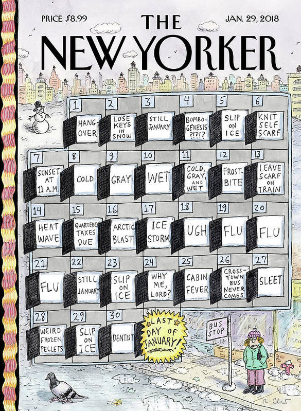 Cruellest Month Art Print featuring the drawing Cruellest Month by Roz Chast