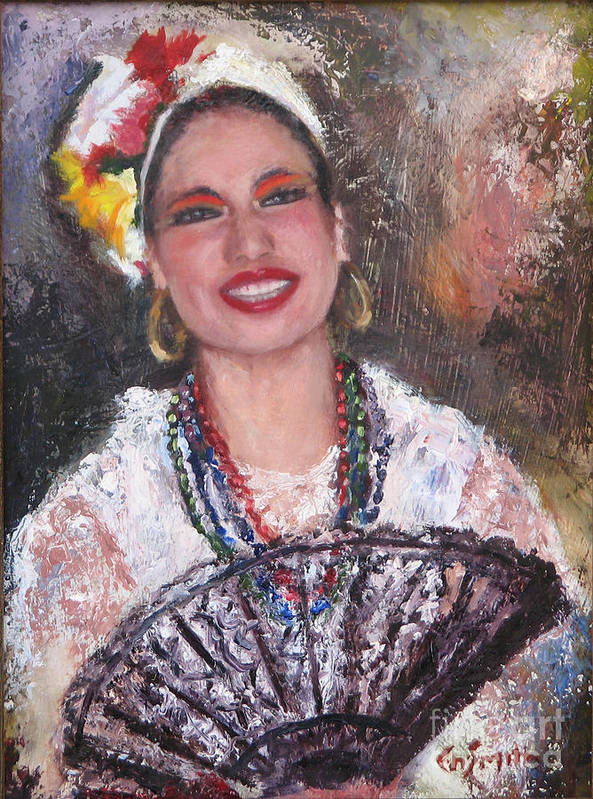 Portraits Art Print featuring the painting Dancer by Chris Neil Smith