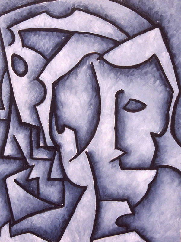 Abstract Art Print featuring the painting David by Thomas Valentine
