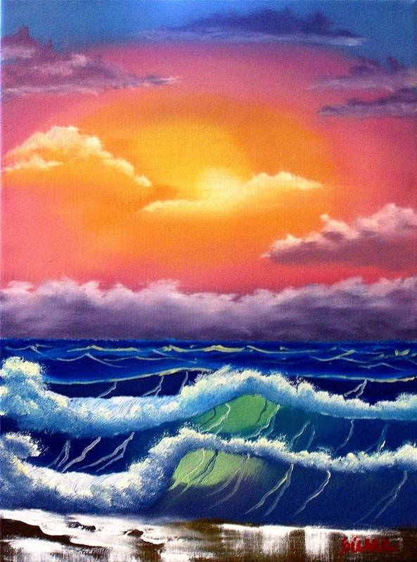 Dawn Art Print featuring the painting Dawn Breakers by Dina Sierra