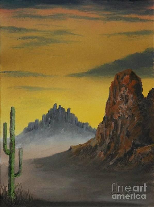Desert Vista Art Print Louise Williams by Louise Williams