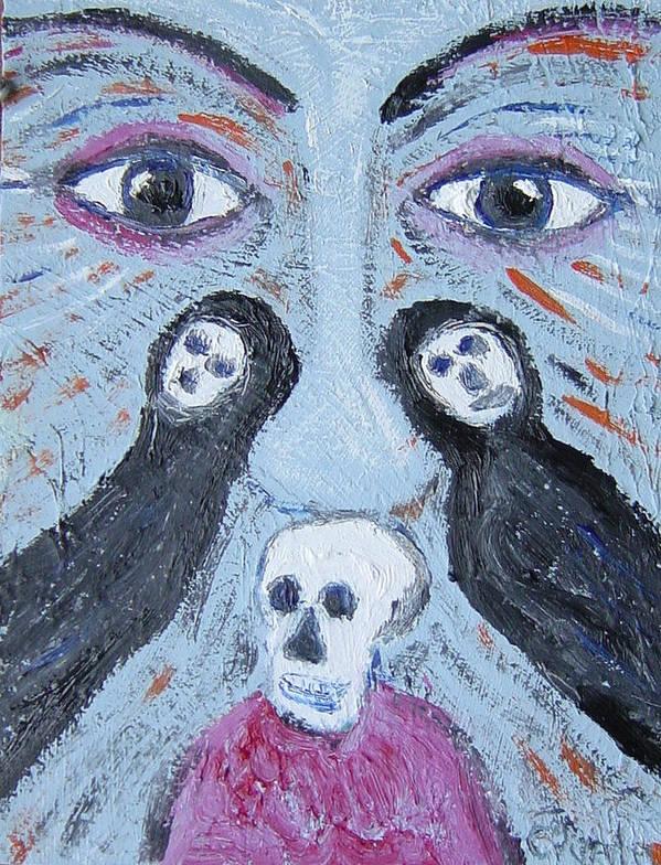 Art Print featuring the painting Dia de los muertos by Biagio Civale