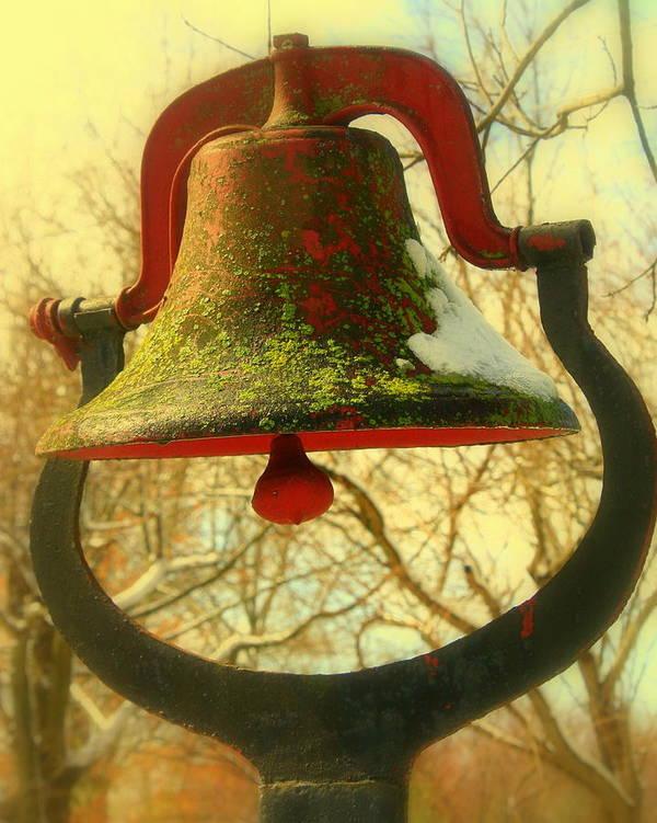 Cast Iron Bell Art Print featuring the photograph Dinner Bell by Susan Crittenden