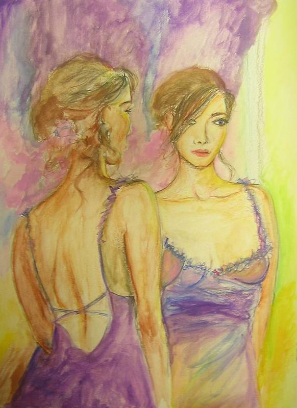 Feminine Art Print featuring the painting Distracted by Lizzy Forrester