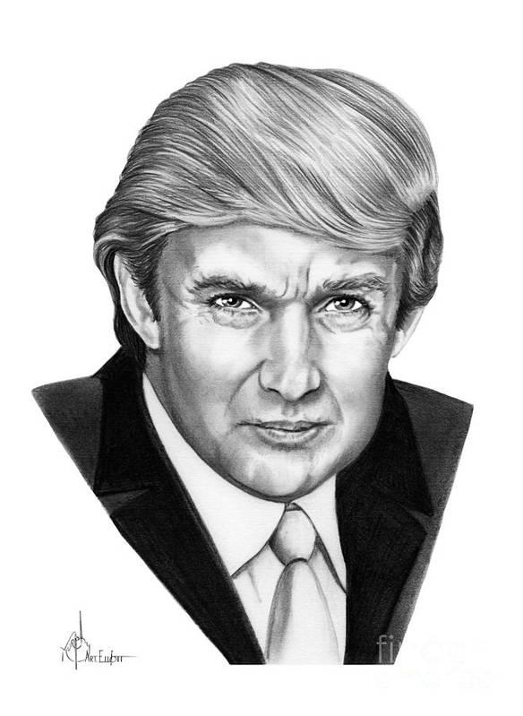 Donald Trump Art Print by Murphy Elliott