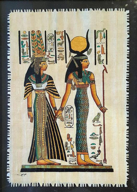 Temple Of Horus Art Print featuring the photograph Egyptian Papyrus by Rob Hans