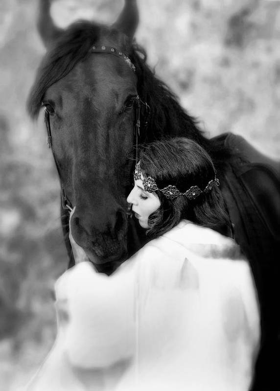 Horse Art Print featuring the photograph Embrace by Jean Hildebrant