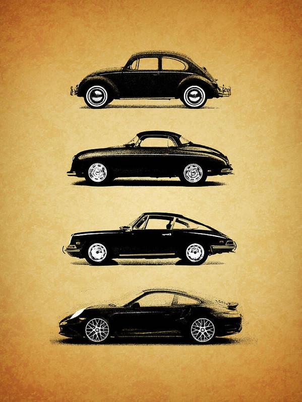 Porsche Art Print featuring the photograph Evolution by Mark Rogan
