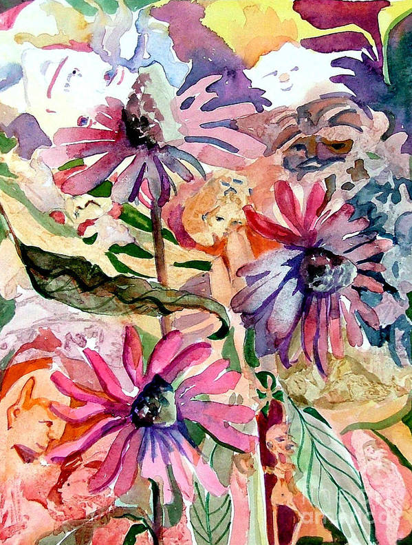 Daisy Art Print featuring the painting Fairy Land by Mindy Newman