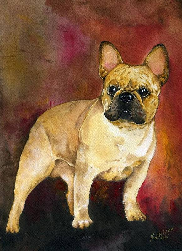 French Bulldog Art Print featuring the painting French Bulldog by Kathleen Sepulveda