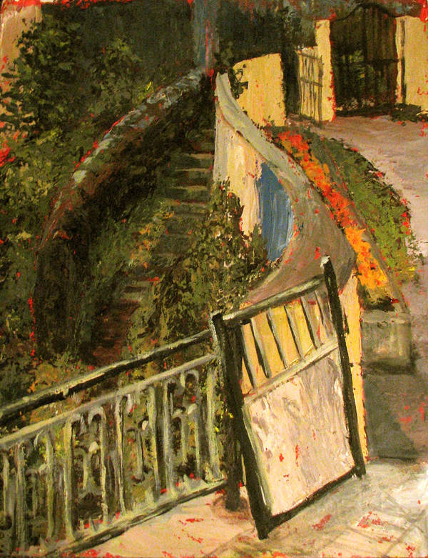 Gate Art Print featuring the painting Gated Community by Art Nomad Sandra Hansen