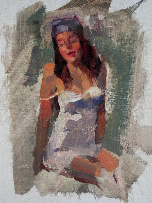 Figurative Art Print featuring the painting Glam Girl by Merle Keller