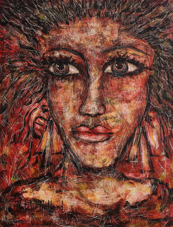 Expressionism Art Print featuring the painting Gypsy by Natalie Holland
