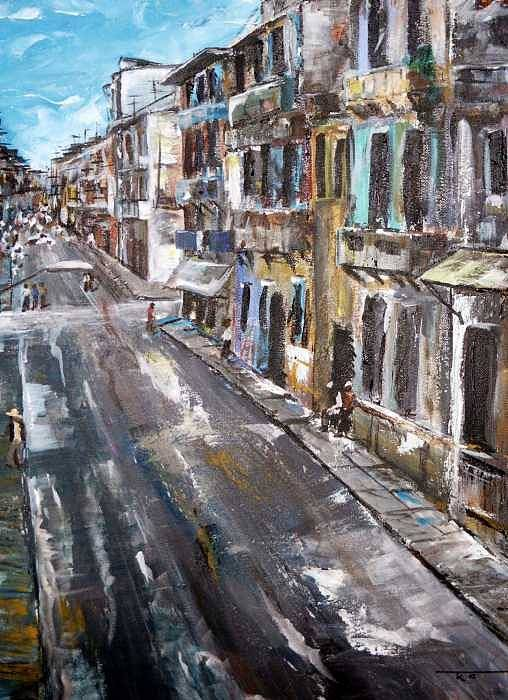 Cuba Art Print featuring the painting Havana by Travis Kelley