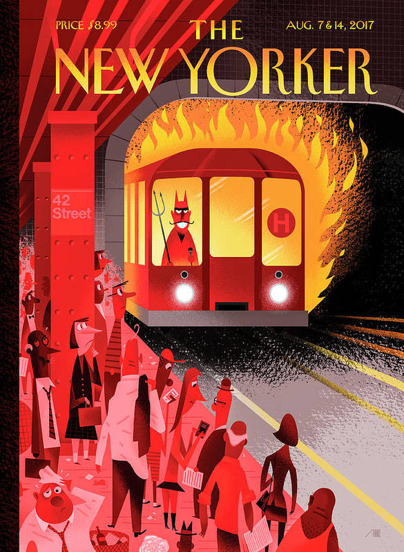 Hell Train Art Print featuring the drawing Hell Train by Bob Staake