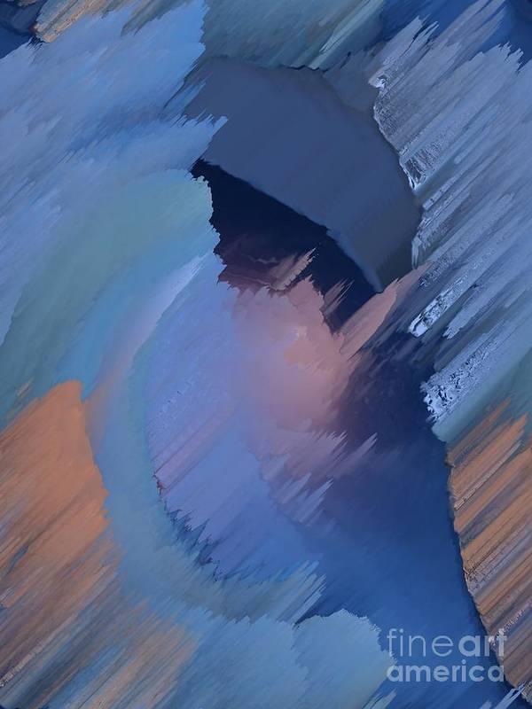 Blue Art Print featuring the painting Hemisphere by Vicki Lynn Sodora