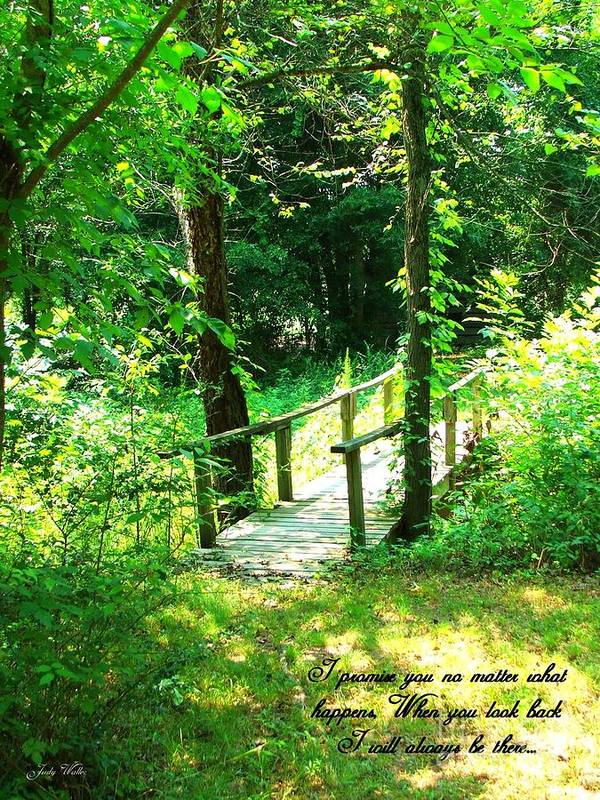 Woods Art Print featuring the photograph I Promise by Judy Waller