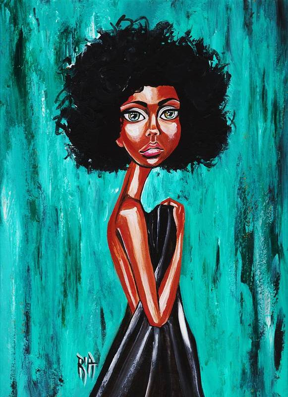 Afro Art Print featuring the photograph If From Past Sins Ive Been Washed Clean-why Do I Feel So Dirty by Artist RiA