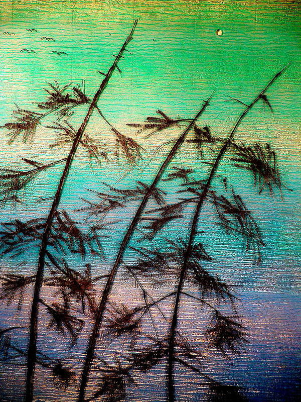 Landscape Art Print featuring the painting Into the Wind by Rick Silas