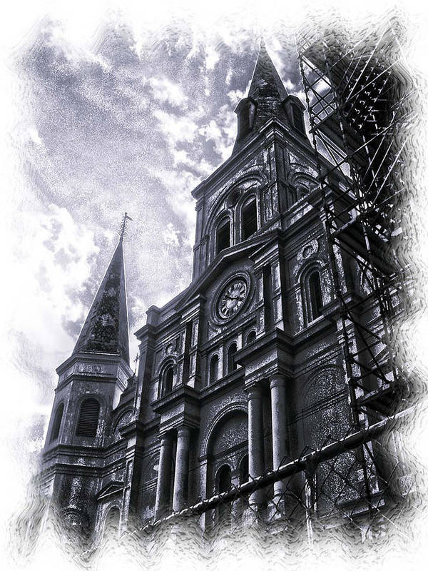 New Orleans Art Print featuring the photograph Jackson Square Cathedral by Linda Kish