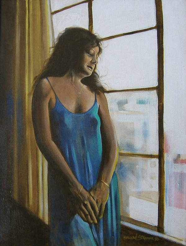 View From The 4th Floor Art Print featuring the painting Jeanette by Howard Stroman