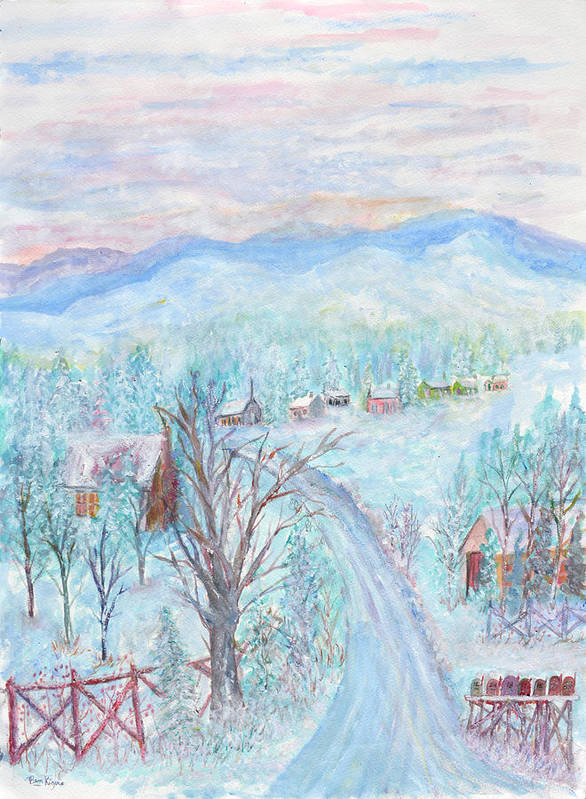Winter Art Print featuring the painting Joy of Winter by Ben Kiger