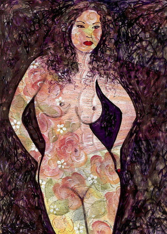 Nude Art Print featuring the painting Keanna by Natalie Holland