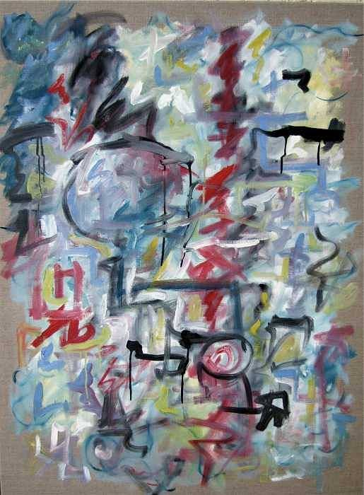 Bastract Art Print featuring the painting Large Abstract No 1 by Michael Henderson