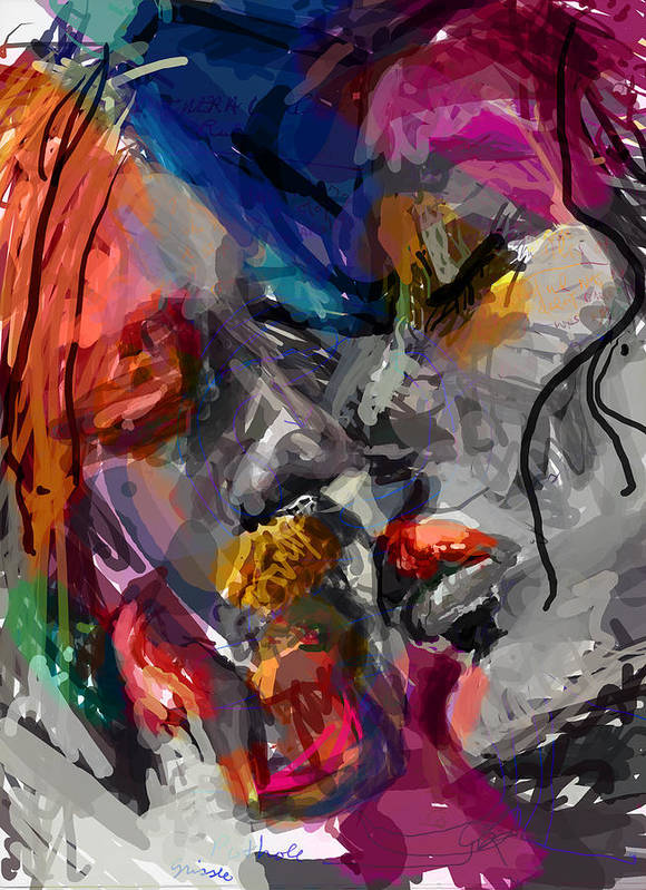 Man Art Print featuring the digital art Love Hate Being by James Thomas