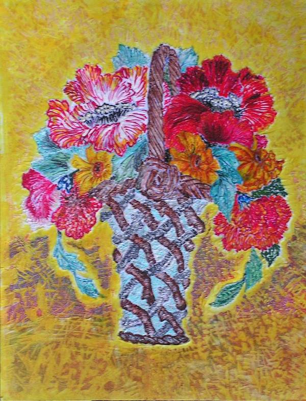 Floral Art Print featuring the painting Mexican by John Vandebrooke