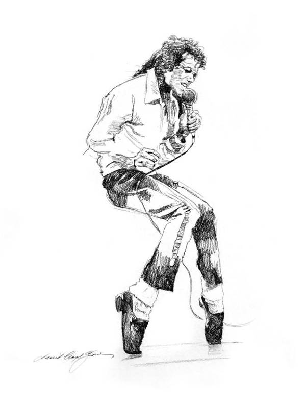 Michael Jackson Art Print featuring the drawing Michael Jackson - King of Pop by David Lloyd Glover