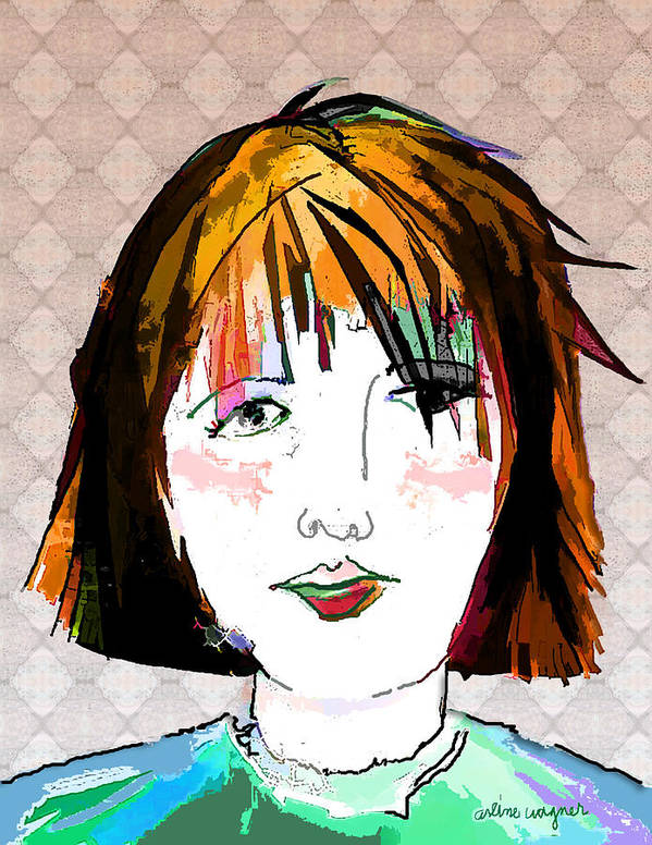 Woman Art Print featuring the digital art Minimal Makeup by Arline Wagner