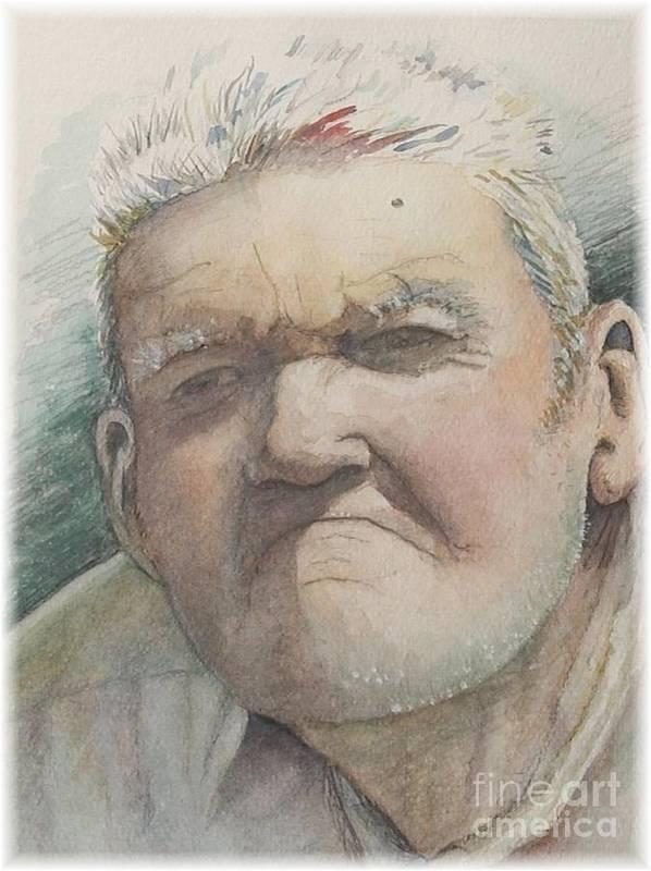 Portrait Art Print featuring the painting Minnesota Farmer by Nadine Rippelmeyer