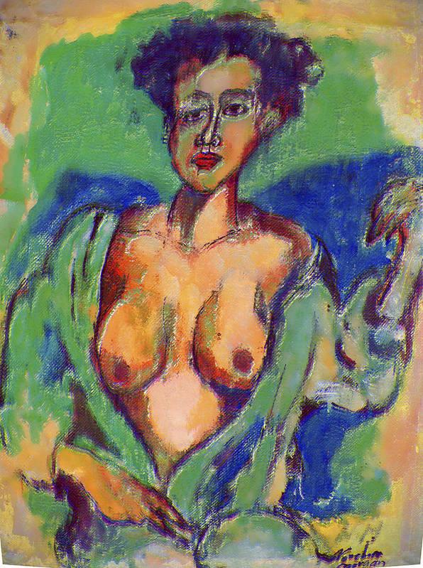 Vergin Art Print featuring the painting Miss Shahenda by Noredin Morgan