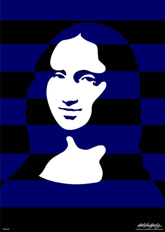 Mona Lisa Art Print featuring the digital art Mona Lisa by Asbjorn Lonvig