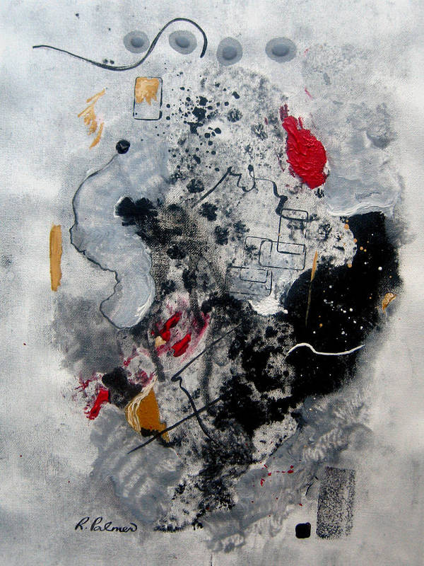 Abstract Art Print featuring the painting Moods II by Ruth Palmer