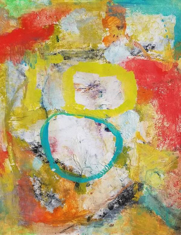 Abstract Art Print featuring the painting Morning Calm by Patricia Byron