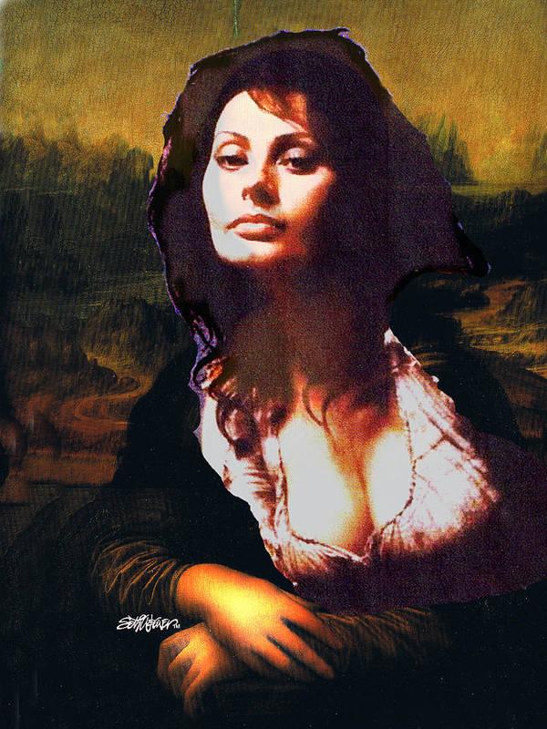 Mona Lisa Art Print featuring the digital art My Real Mona Lisa by Seth Weaver