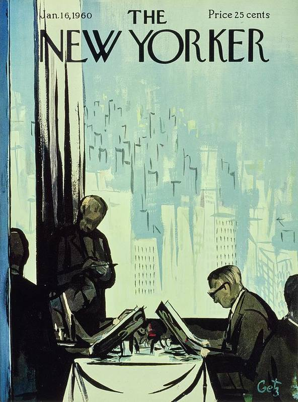 Illustration Art Print featuring the painting New Yorker January 16 1960 by Arthur Getz