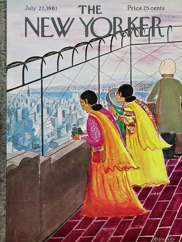 Illustration Art Print featuring the drawing New Yorker July 22 1961 by Anatole Kovarsky