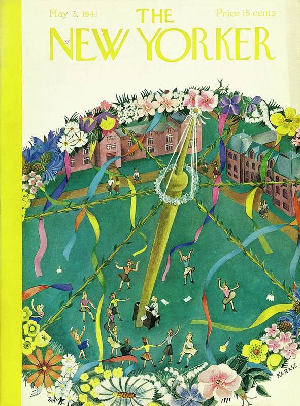 Spring Art Print featuring the painting New Yorker May 3 1941 by Ilonka Karasz