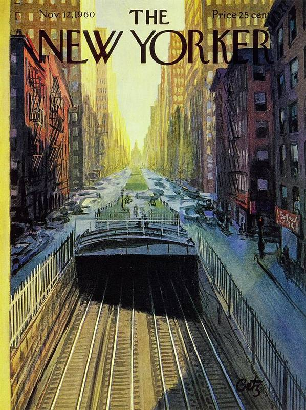 Illustration Art Print featuring the painting New Yorker November 12 1960 by Arthur Getz