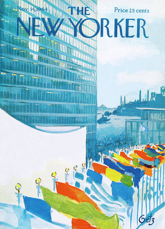 Urban Art Print featuring the painting New Yorker November 14th, 1964 by Arthur Getz