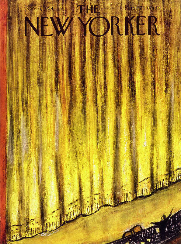 Stage Art Print featuring the painting New Yorker November 6 1954 by Abe Birnbaum