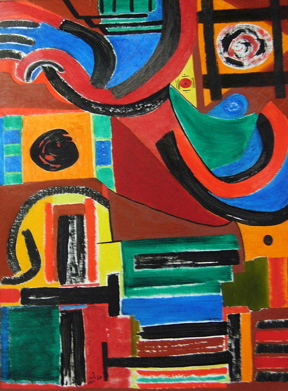 Abstract Art Print featuring the painting No. 334 by Vijayan Kannampilly